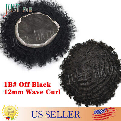 Balding Man Wig (Full French lace Afro Curl Mens Toupee Man Weave Balding Mens Male Lace Men)