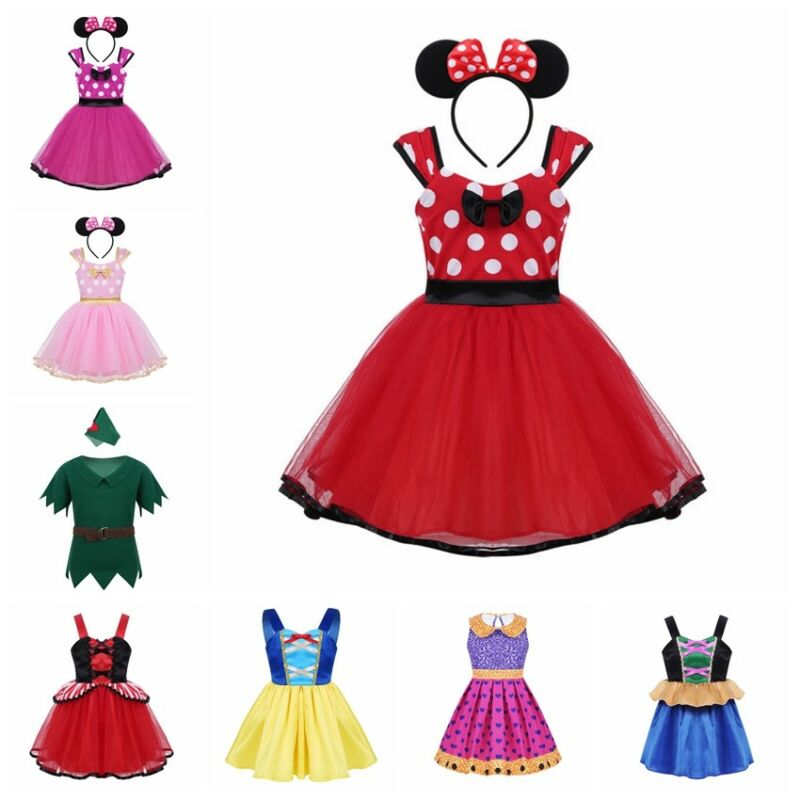 aca47d547b523 Kids Baby Girls Costume Princess Dress Cosplay Party Carnival Fancy ...