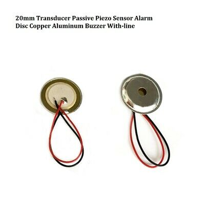 20mm Transducer Passive Piezo Sensor Alarm Disc Copper Aluminum Buzzer With-line