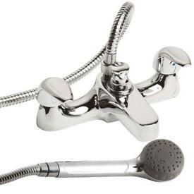 Bath tap with hose