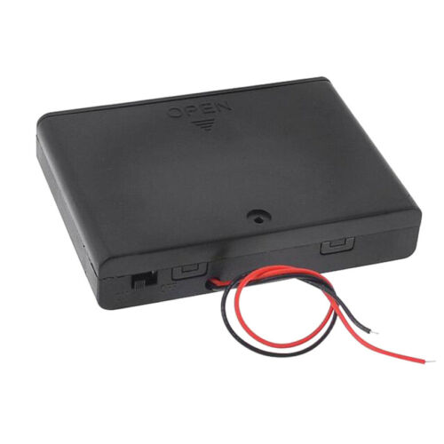 6-Slot 1.5VAA Size Battery Spring Clip Holder Case Plastic Storage Flat Series