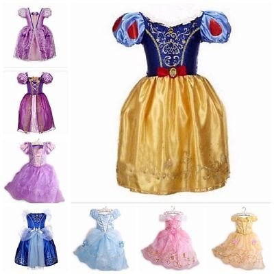 Snow White Outfit Kids (Girls Kids Fancy Dress Up for Snow White Rapunzel Cinderella Costume)
