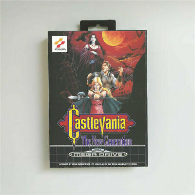 Castlevania The New Generation Sega Mega Drive Game with Box