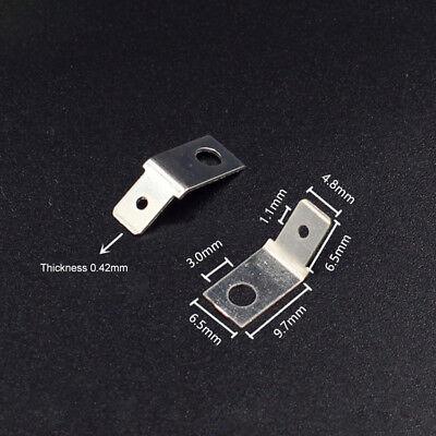 4.8mm Pcb Solder Lug Terminals Plug Blade Soldering Terminals Thickness 0.42mm