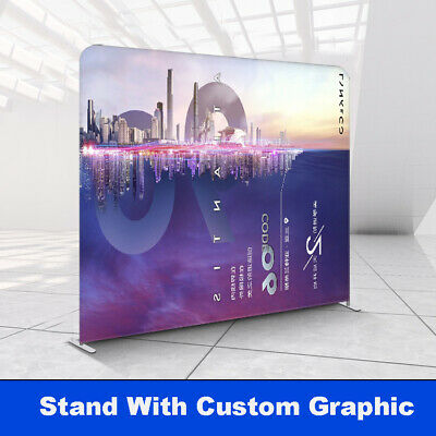 Custom 10ft Back Wall Trade Show Booth Pop Up Display Stand Expo