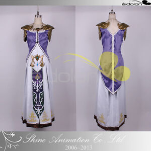 EE0079AB The Legend of Zelda Princess Zelda Cosplay Costume