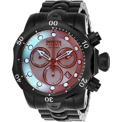 Invicta Reserve Venom 25417 Men's Round Analog Tinted Chronograph Black IP Watch