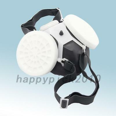 Half Face Mask Respirator Pads Paint Anti-dust Particulate Filter Gas Dual Mask