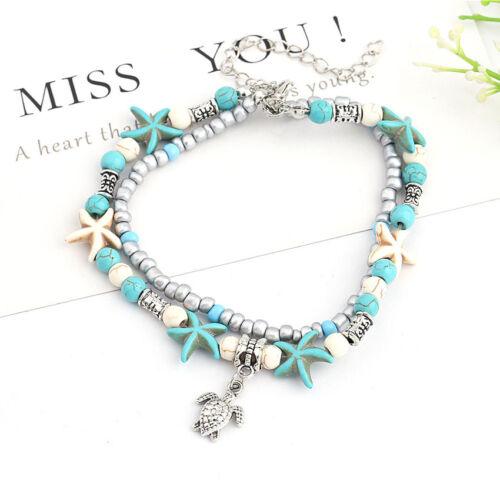 MISSU JEWELLRY Mini Beads Chain Anklet Bohemia Style Beach Ankle Bracelet for Girls