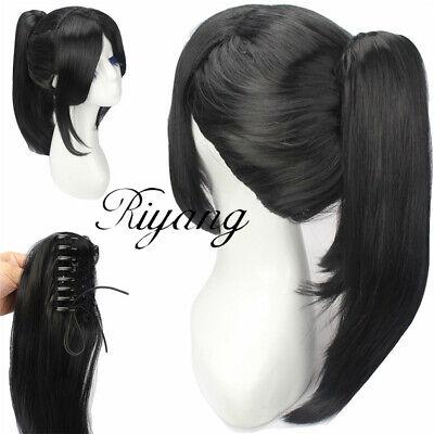 Black Hair Cosplay Wig with High Ponytail Anime Movie Wig by yukimura chiduru -