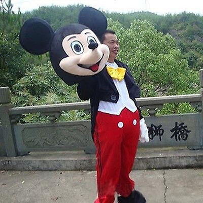 Good!! Adult Mickey Mouse Costume Character Cartoon Mascot Outfit New Disney - Disney Characters Costumes Adults