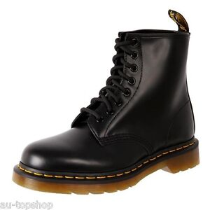 Genuine-Dr-Martens-Doc-Unisex-Leather-8-Up-Ankle-Boots-1460-Black-Smooth-Cheap