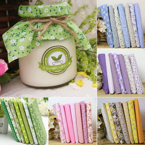 7pcs Cotton Fabric Cloth Sewing Quilting For Patchwork Needlework DIY Handmade