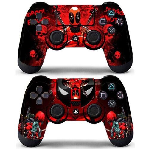 2 Pack PS4 Controller Dualshock Skin Deadpool Marvel Comic Vinyl Decals Covers