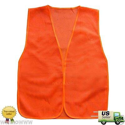 2pc Orange Construction Traffic Safety Vest Mesh  2 Traffic Safety Vest