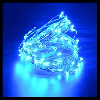 5M USB Powered Silver led string fairy lights garland Home Wedding Party Blue