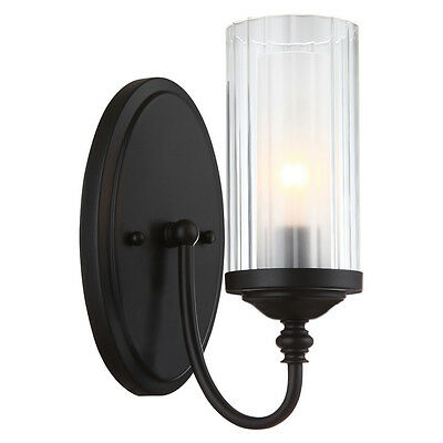 Lexington Series Oil Rubbed Bronze 1 Light Wall and Bath Fixture #20-8642