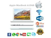 APPLE MACBOOK POWERFUL A1342 , 250GB HDD 4GB RAM 2.5GHZ MAC OS HIGH SIERRA WIFI ,WEBCAM WHITE