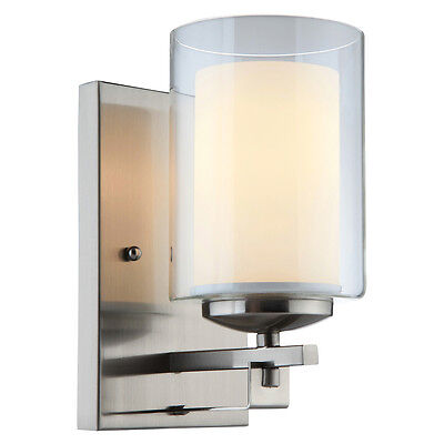 El Dorado Series Satin Nickel 1 Light Wall and Bath Fixture #20-7997