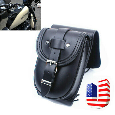 Motorcycle Oil Fuel Gas Tank Panel Tool Bag Saddlebag Fit Sportster XL883 XL1200