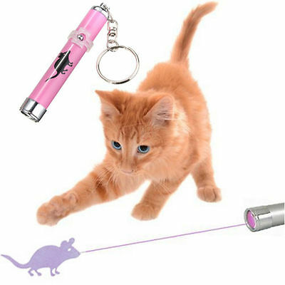 Interactive led Light Training Cat Play Toy Laser Pointer Pen Mouse Animation CA