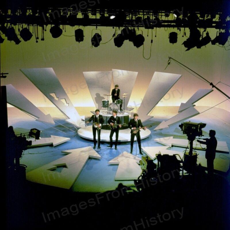 8x10 Print Paul McCartney John Lennon Ringo Starr Beatles Ed Sullivan Show #BET