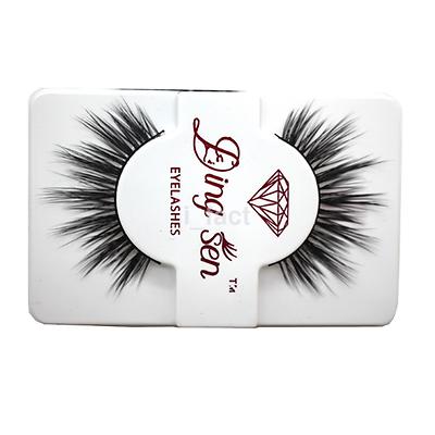 1 Pair Mink Hair Long Natural Black Thick Makeup Eye Lash False Eyelashes Set US