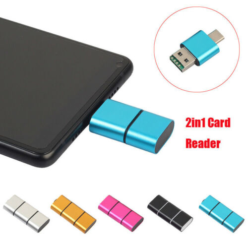 Portable OTG Type C To USB 2.0 Micro SD TF Card Reader Adapter For Android Phone