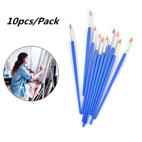 10Pcs Point Tip Nylon Fiber Hair Line Drawing Pen Artist Paint Brush Thin Hook