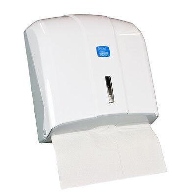 Papierspender, Handtuchspender, Papierhandtuchspender, Kunststoff weiß