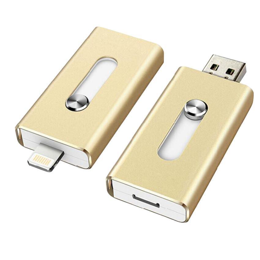 128GB 64GB New OTG Dual USB Memory I Flash Drive U Disk