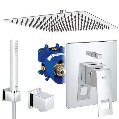 Unterputz Duschsystem, Kopfbrause 300 x 300 mm, Grohe Eurocube, Regendusche Set online kaufen