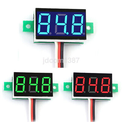 Hot Mini Dc 0-30v Led Digital Diaplay Voltage Voltmeter Panel Meter With 3 Wires