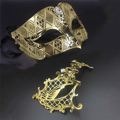 His and Her Couple Masquerade Ball Party Mask Pair Halloween Cosplay Costume