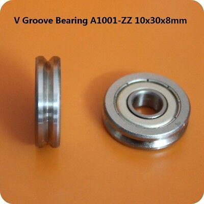 90 V Groove Sliding Guide Roller Bearings A1001-zz 10x30x8mm Bearing Steel
