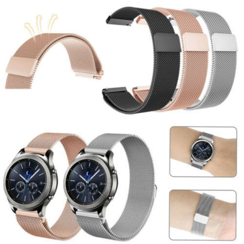 Milanese Magnetic Loop Stainless Steel Band For Samsung Gear S3 Classic Frontier