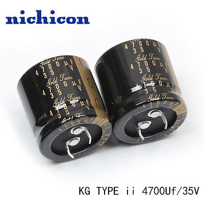 2pcs Nichicon Kg Gold Tune Type Ii 4700uf 35v Audio Capacitor 30x30 85 E186 Yx