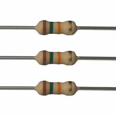 100 X 15k Ohm Carbon Film Resistors - 12 Watt - 5 - 15k - Fast Usa Shipping