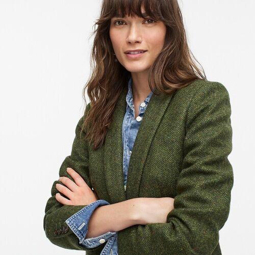 J.CREW NWT Parke Blazer English Wool, Meadow Green Jacket 4, 6, 10  Brown 2P