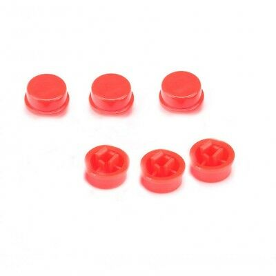 Switch Push-button-cap (50pcs Round Red Push Button Cap Cover for 12x12x7.3mm Tact Micro Switches )