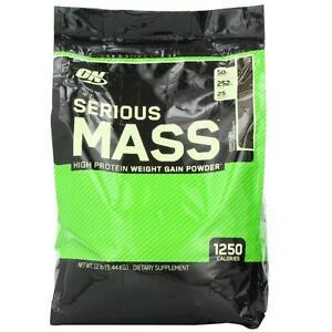 ON SERIOUS MASS 12LBS - WEIGHT GAINER - PROTEINE GAIN DE MASSE -  OPTIMUM NUTRITION