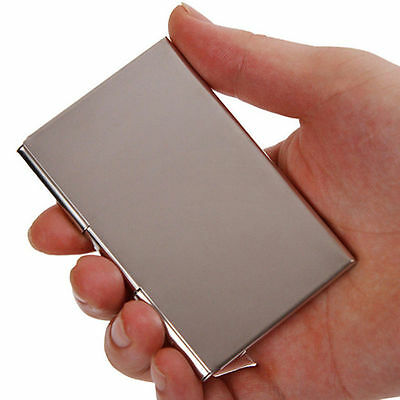 Stainless Steel Business Id Credit Card Wallet Holder Metal Pocket Case Box Efo