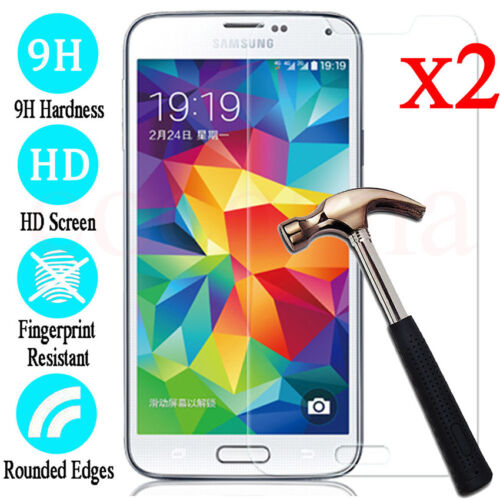 2PCS Tempered Glass Screen Protector Film for Samsung Galaxy S4 S5 S6 S7 S8 S9
