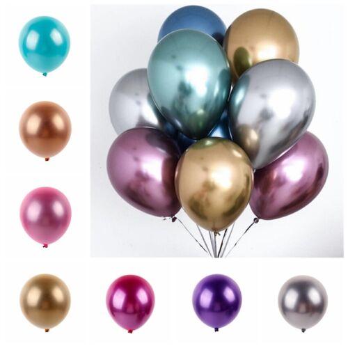 """10Pcs 12"""" Metallic Balloons Bouquet Pearl Ballon Wedding Bir"""