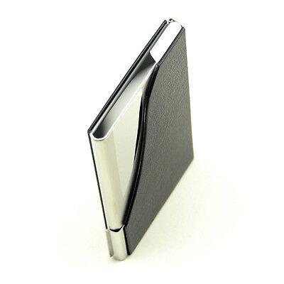 Pocket Black Pu Leatherstainless Steel Business Name Card Case Card Holder Us