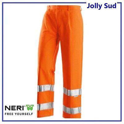 Pantalone da Lavoro Uomo Alta Visibilita Uomo Invernale Riflettente 3M Arancione