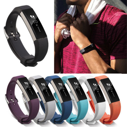 Replacement Silicone Wristband Band Strap With Buckle For Fitbit Alta & Alta HR