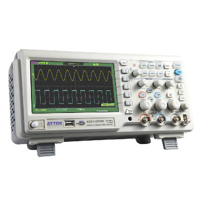 Atten Ads1102cml 100mhz Digital Oscilloscope Scope 7lcd Dso Memory Upto 2mpts