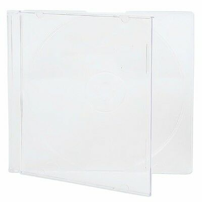 100 New Single Slim Clear Cd Dvd Jewel Case Box Ship Same Biz Day By 12pm Est