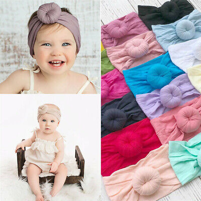 Baby Girls Kids Toddler Bow Knot Hairband Headband Stretch Turban Head Wrap ()